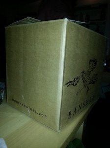 We only bought 4 extra bottles, but they gave us a huge box.  Kind of embarrassing hailing a taxi this way.