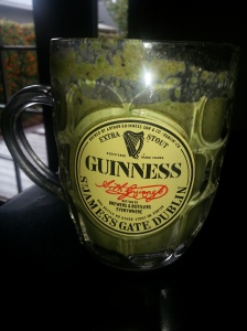 Getting into the St. Patrick's Day mood with my morning shake!