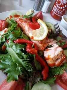 Pita Jungle's Wood-Fired Salmon Salad