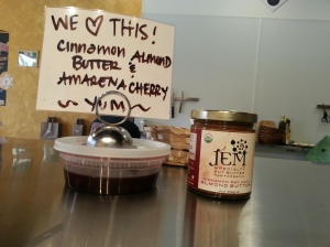 This Cinnamon Almond Butter paired with Delice de Bourgogne and topped with an Amarena Cherry.  Want to amaze people at a dinner party? Start with this treat.