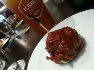 Great Pre-Movie Snack: Meatballs and Beer!